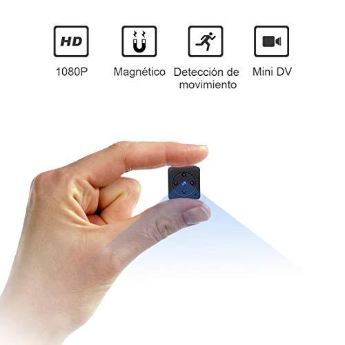 Mini Camara Espia Oculta Videocámara, NIYPS 1080P HD Cámara Vigilancia Portátil Secreta...