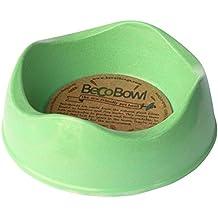 Fuente de agua y comida de Beco Bowl de bambú ecológico verde XS