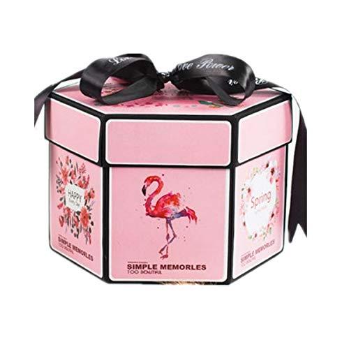 VADOO kreative überraschung Box Handgemachtes Scrapbook DIY faltendes fotoalbum,Explosionsbox, Jubiläumsgeschenke Gedenkalben Geburtstagsgeschenke, Partygeschenke Mädchen von Traum