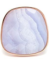 Lola Rose Bassa Statement Facet Blue Lace Agate  Ring - Size Large