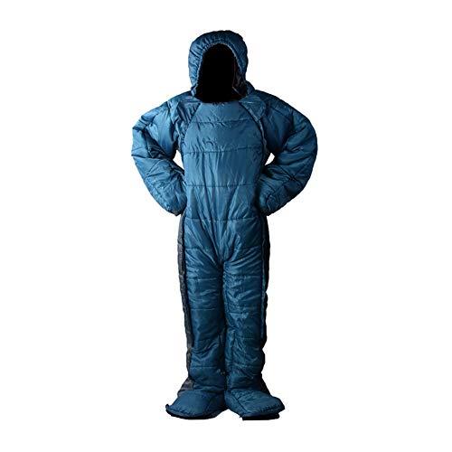 WZQQT Menschliche Form Menschlicher Körper Schlafsack,Begehbar Camping Männlich Weiblich Allgemeiner Zweck tragbar Warm Tragbar Passen Mumien Atmungsaktiv Ultraleicht Erwachsene Schlafsack,XL