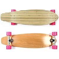 Moose longboard skateboard cruiser kicktail Zebra Stripe Complete Longboard 36.5 x 9.75 inches