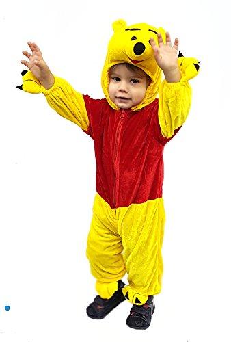 Novità vestiti carnevale travestimento maschera cosplay halloween gioco personaggio film winnie pooh bimbo animaletto animale pellicciotto tutina tg 9-12 mesi
