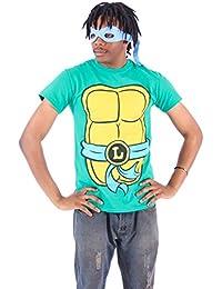TMNT Teenage Mutant Ninja Turtles Leonardo Costume Green Adult T-shirt Tee (Adult 4X)