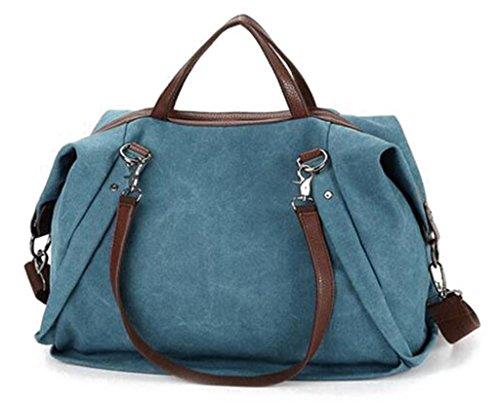 Auspicious beginning Occident schalenartig mit Niet hoher Kapazität Mode lila Umhängetasche Handtasche Blau