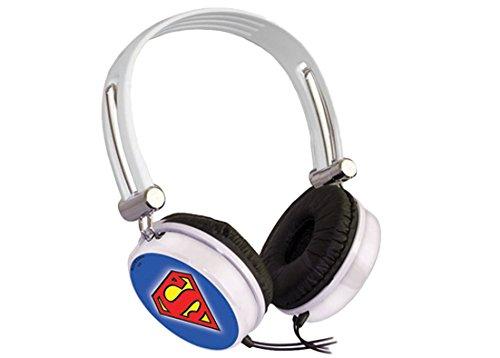 Xtreme 33653Superman Casque Audio, fiche Jack 3,5mm, dotée de Pavillon auriculaire, diamètre de 40mm