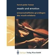 Musik und Emotion: Wissenschaftliche Grundlagen des Musik-Erlebens (German Edition) by Horst-Peter Hesse (2003-07-16)
