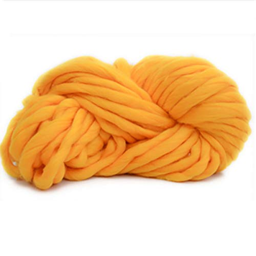 Wolle-Alpaka-Garn-Stränge starkes warmes Kammgarn-Gewichts-Garn-Stricken, Häkeln für Baby-Kleidungsstücke, Schals, Hüte (Color : Yellow) -