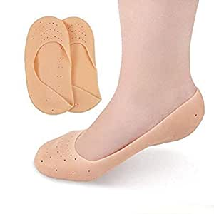 VOETEX ZONETM Anti Crack Full Length Silicone Foot Protector Moisturizing Socks for Foot-Care and Heel Cracks