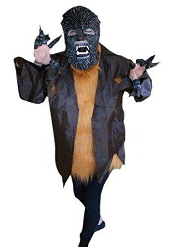 Ikumaal F52 Werwolf Kostüm, Halloween Kostüm, Faschingskostüme, Karnevalskostüm, für Kinder und Erwachsene, für Fasching Karneval Fasnacht, auch als Geschenk zum Geburtstag oder - Kleinkind Werwolf Kostüm