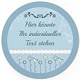 24 PERSONALISIERTE runde Etiketten mit Motiv: Hellblau - Ihre Aufkleber online selbst gestaltet, ganz individuell