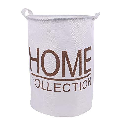 Da.Wa 1 Stück Haushalt Wäsche Wechseln Aufbewahrungskorb für Schmutzige Kleidung Baumwolle und Leinen Ablagekorb Wäschekorb(Weiß) - Wäsche Wechseln