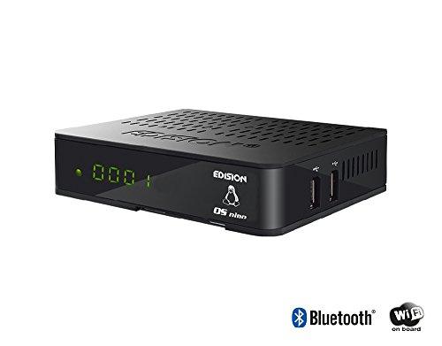 Edision OS Nino Full HD Sat–Receptor de Cable (1x DVB-S2, 1x DVB-C, WiFi OnBoard, 2x USB, HDMI, LAN, Linux, Lector de Tarjetas), Color Negro