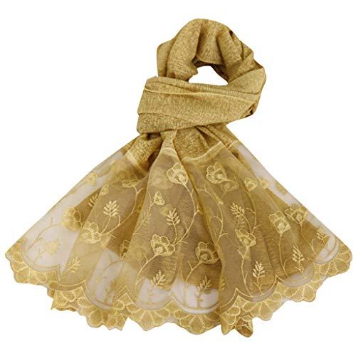 LSAltd Mode Ethnische Blumenspitze Patchwork Reine Farbe Frauen Abaya Islamischer Moslemischer Mittlerer Osten Hijab Schal Headwear