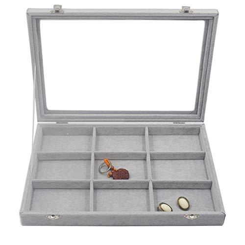 Leisial Schmuckkasten Schmuck Box Schmuckkoffer Schmuckständer Sortierkästen Schmuck Aufbewahrungsbox für Ringe Ohrringe Halskette 35 * 24 * 4.5,2