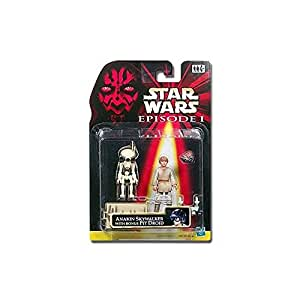 STAR WARS FIGURINE ANAKIN SKYWALKER ENFANT WITH PIT DROID BLANC