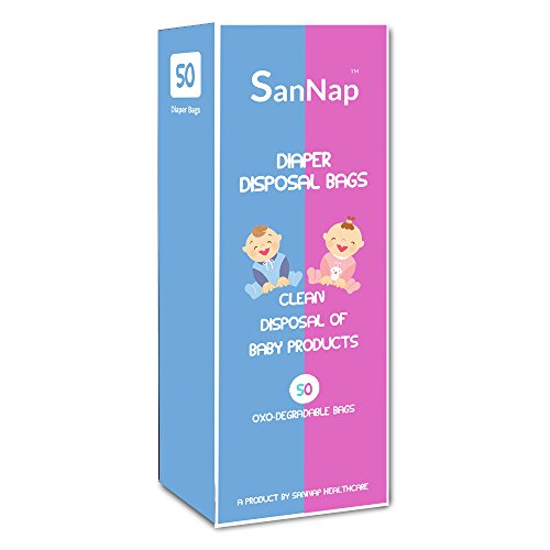 SanNap Baby Diaper Disposal Bags (50 Count)
