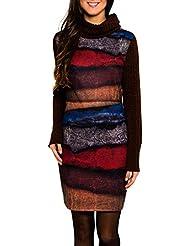 SMASH Yuma Vestido Con Cuello Alto-A1682321, Robe de Chambre Femme