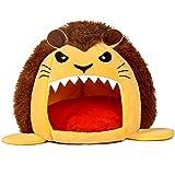 MMLsure® Cartoon Tier Form Hundehöhle,Katzenhöhle,Hundebett,Katzenkorb, Hundekorb,Hundedecke für Innen Outdoor Winterfest (Gelb)