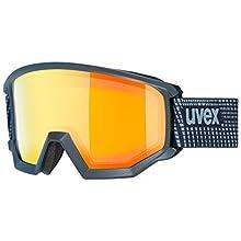 Uvex Unisex – Adults, Athletic FM Ski Goggles, Black Matte, One Size, unisex_adult, Ski goggles., S550520, blue, standard size