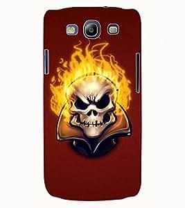 ColourCraft Burning Skull Design Back Case Cover for SAMSUNG GALAXY S3 I9300