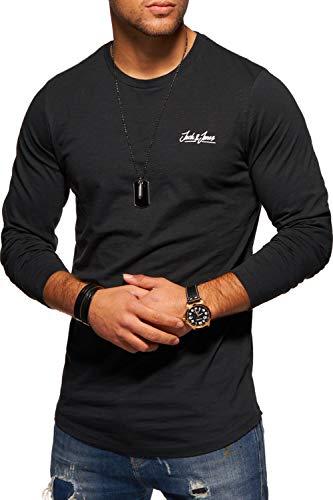 JACK & JONES Herren Langarmshirt Oversize Longshirt O-Neck (Large, Tap Shoe)