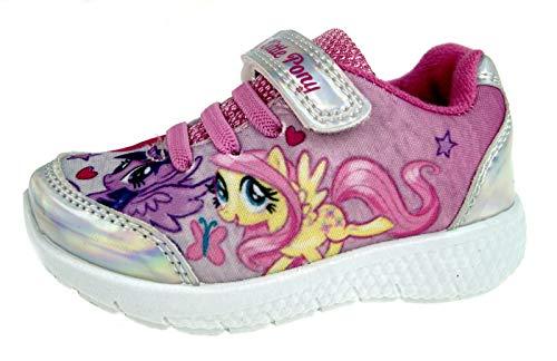 My Little Pony - Sneaker Sportive da Ragazza con Brillantini, Rosa (Silver/Pink), 31 EU