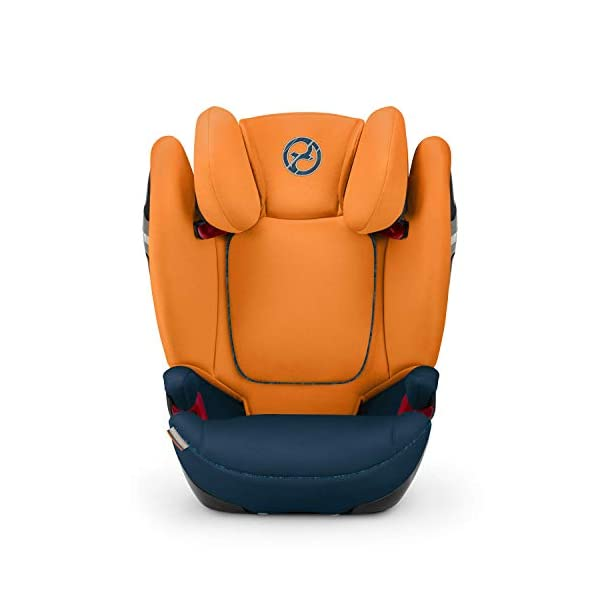 CYBEX Gold Solution S-Fix Child's Car Seat, For Cars with and without ISOFIX, Group 2/3 (15-36 kg), From approx. 3 to approx. 12 years, Indigo Blue Cybex Sturdy and high-quality child car seat with long service life - For children aged approx. 3 to approx. 12 years (15-36 kg), Suitable for cars with and without ISOFIX Maximum safety - Built-in side impact protection (L.S.P. System), 3-way adjustable headrest, Energy-absorbing shell 12-way adjustable, comfortable headrest, Adjustable backrest, Extra wide and deep seat cushion, Ventilation system 8