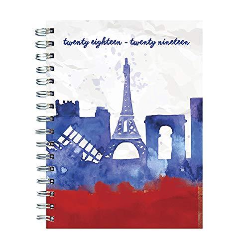 Paris Medium Weekly Monthly 2018-2019 Planner (Amazon-pocket-kalender)
