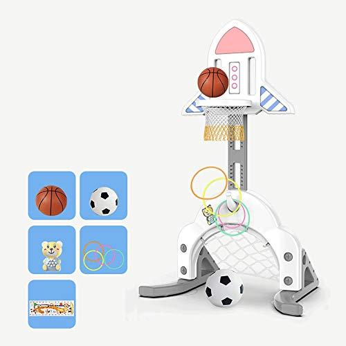 Szblk Einstellbare Kinder Basketball Stehen Innen Heben Hause Fußball Tür Kindergarten Outdoor Spielzeug Eltern Kind Spielzeug Geeignet Für 1-8 Jahre Alt Beste Geschenk