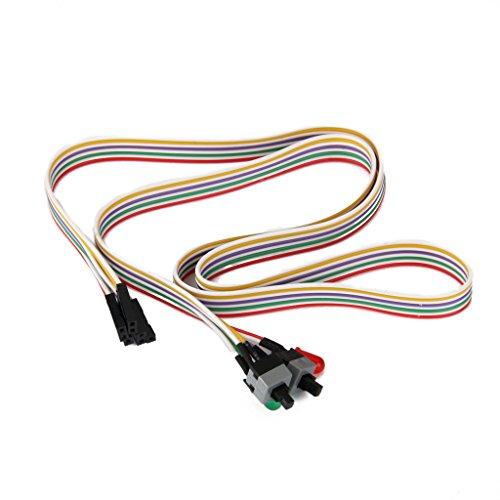 Power-schalter Atx (ATX PC Computer Motherboard Netzkabel 2 Schalter Auf Mit LED Licht Ein / Aus / Reset)