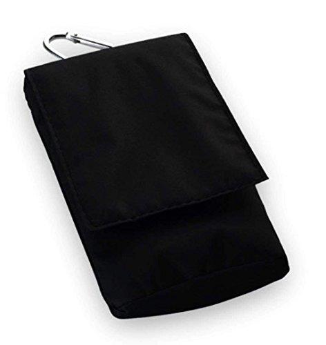 Vertikale Nylon Rucksack (Nylon Vertikal Handyasche schwarz geeignet für Xiaomi Mi A2, Samsung Galaxy S9 Plus, Apple Iphone XS Max, Apple IPhone XR - Handy Schutz Hülle Case Cover Etui Gürtel Tasche schwarz)