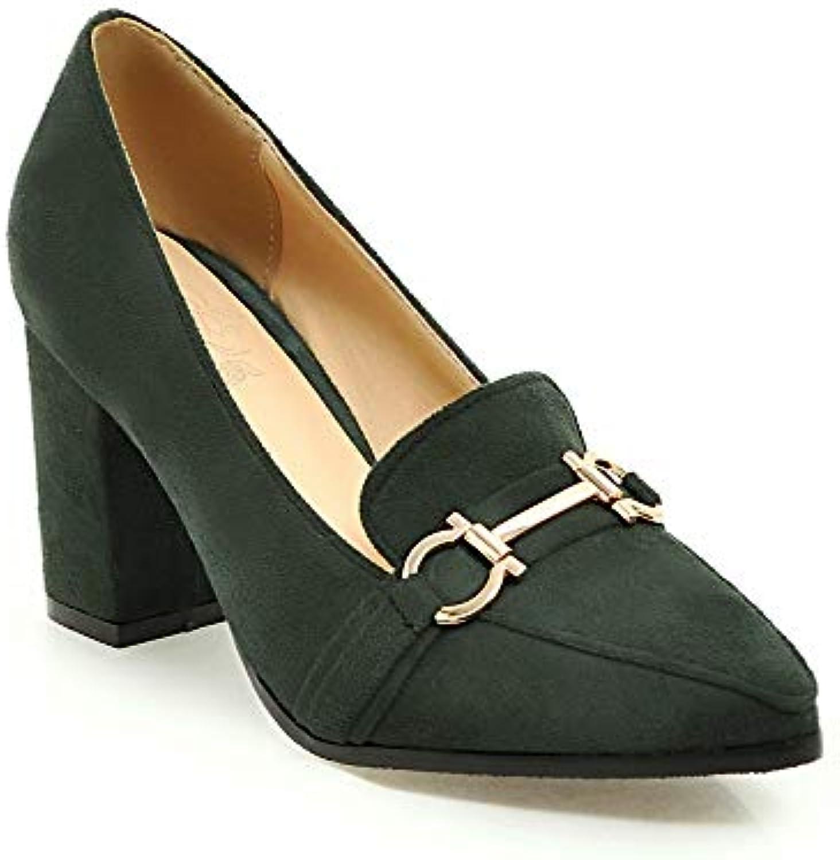 Lsm-Heels Wouomo Block Heel Pointed Toe Shallow Mouth scarpe | Eccellente  Qualità  | Uomo/Donna Scarpa