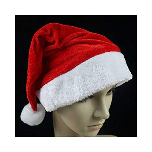 Mädchen Kinder Olivia Kostüm - TKHCOLDM Weihnachtsdekoration für Familienfeier - Elf Rote Weihnachtsmütze und Santas Weiße Mütze für Kostüm-D1