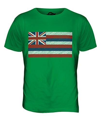 CandyMix Bundesstaat Hawaii Kritzelte Flagge Herren T Shirt Grün