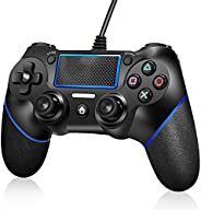 PATIOSNAP PS4 Controller, Wired Remote Controller for Playstation 4 Dual Vibration Shock Joystick Game pad for