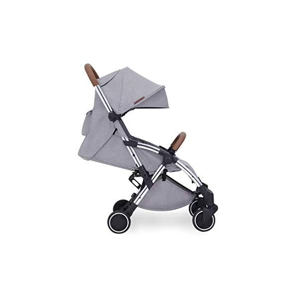 Ickle Bubba Baby Strollers | Lightweight and Portable Stroller Pushchair | Folds Slim for Ultra Compact Storage | UPF 50+ Extendable Hood and Rain Cover | Globe, Grey/Silver Ickle Bubba ONE-HANDED 3 POSITION SEAT RECLINE: Baby stroller suitable from birth to 15kg-approx. 3 years old; features rain cover UPF 50+ RATED ADJUSTABLE HOOD: Includes a peekaboo window to keep an eye on the little one; extendable hood-UPF rated-to protect against the sun's harmful rays and inclement weather ULTRA COMPACT AND LIGHTWEIGHT: Easy to transport, aluminum frame is lightweight and portable-weighs only 6.4kg; folds compact for storage in small places-fits in aeroplane overhead; carry strap and leather shoulder pad included 10