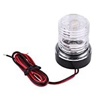 12V Boat Trailer Light, 12V Boat Navigation Lights Boat LED Navigation Lights 360° Waterproof Round LED Anchor Light…