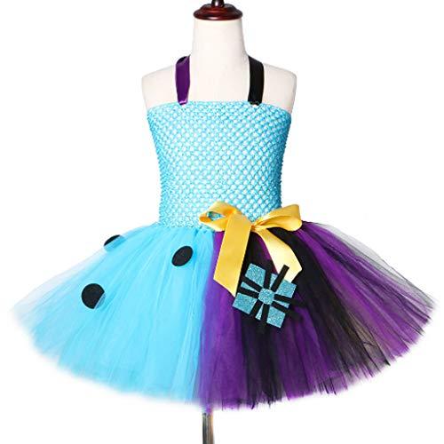 DONGBALA Halloween-Prinzessinkleid, Cosplay Kleid Maid Sally Rock Für Kostümkinder Holiday Starred Clothing School Karneval Spielen Blaue Und Lila Nähte (3~8 Jahre Alt),8~9Y (Halloween School Boy Kostüm)