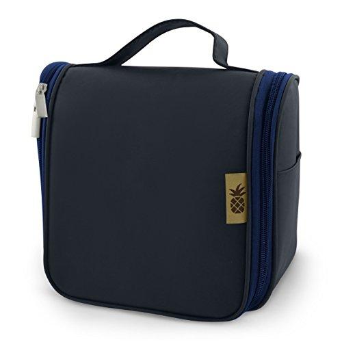 Kulturbeutel zum Aufhängen für Damen & Herren + 1L Kulturtasche mit 8 Flüssigkeiten-Behältern für Reisen + Universal-Türhaken | Kosmetiktasche für Männer und Frauen
