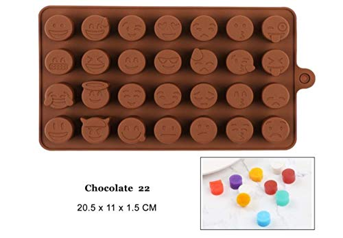 FTFSY Silicone Chocolate Mold 29 Shapes Chocolate Baking Tools Non-Stick Silicone Cake Mold Jelly and Candy Mold 3D Mold,Chocolate 22 - 22 Chocolate Mold