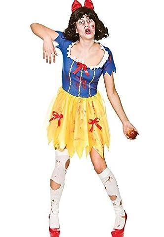 Adult Female Zombie Snow White Halloween Fancy Dress Costume (Women: 14-16)