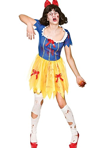Adult Female Zombie Snow White Fancy Dress Halloween Costume