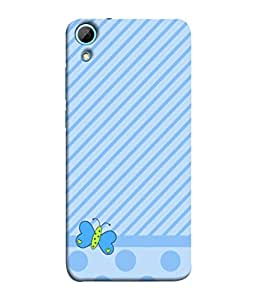PrintVisa Brushed Footed Butterfly 3D Hard Polycarbonate Designer Back Case Cover for HTC Desire 830 :: HTC Desire 830 Dual Sim