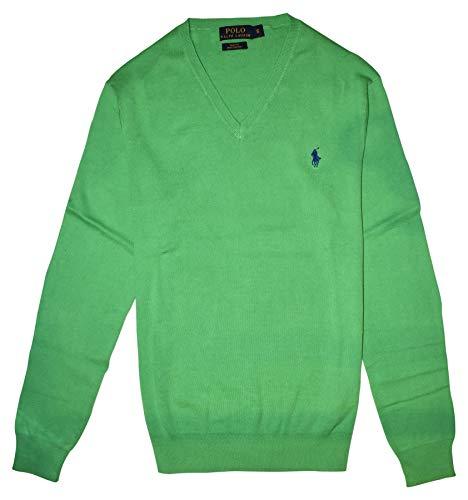 Ralph Lauren Polo Pullover V - Ausschnitt Optic Lime Größe L