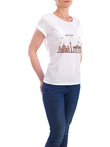 """Design T-Shirt Frauen Earth Positive """"Berlin"""" - stylisches Shirt Städte Städte / Berlin Architektur von Alexandr Bakanov Weiß"""