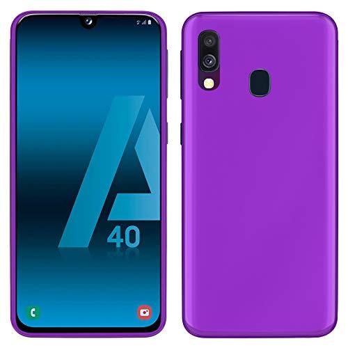 TBOC Lila Gel TPU Hülle für Samsung Galaxy A40 A405FD A405FN [5.9 Zoll] Ultradünn Flexibel Silikon Gehäuse für Handy