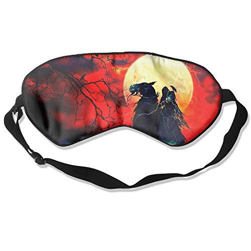 Preisvergleich Produktbild Nigga Knight Rider Comfortable Lightweight Double-Sided Silk Eye Sleep Mask Soft Cover Eyeshade Plane Blindfold