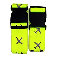 Eazeehome Heavy Duty Luggage Security Strap Suitcase Long Cross Travel Belt Packing Tags Green