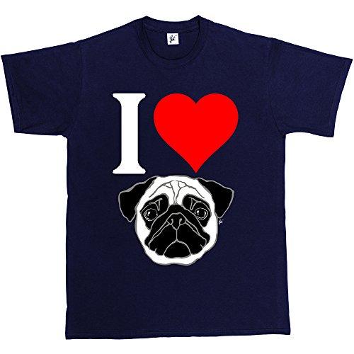 Fancy A Snuggle -  T-shirt - Collo a U  - Maniche corte - Uomo blu navy